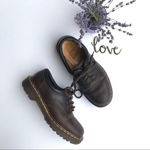 Dr. Martens Crazy Horse Brown Leather Combat Boots